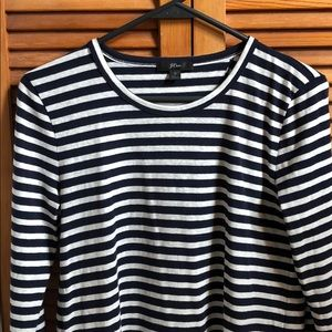 J Crew long sleeve striped tee